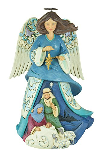 Enesco 4055127 Jim Shore Wrapped In Holy Love Nativity Angel Figurine by Jim Shore