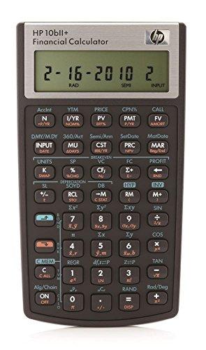 HP HP10bII+ Calculatrice financière (10 Bii Calculator)