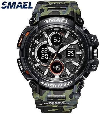 Amazon.com: Mens Sports Analog Quartz Watch Dual Display Waterproof Digital Watches with LED Backlight relogio Masculino El Movimiento de Los relojes: ...