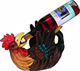 Cheap River's Edge Hand Painted Rooster Wine Bottle Holder