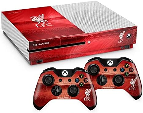 Official Liverpool FC Xbox One S Console Skin and 2x Controller ...