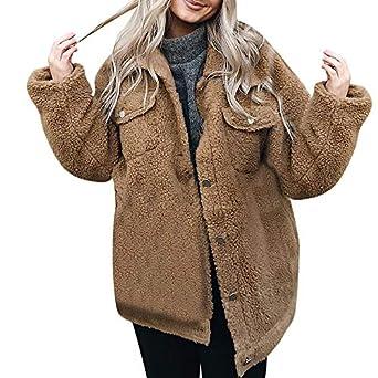 Linlink Mujer botón de Manga Larga Jersey Blusa Abierta Frente Chaqueta Abrigo: Amazon.es: Ropa y accesorios