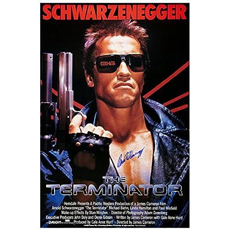 Arnold Schwarzenegger Autographed The Terminator 27x40 Autograph Poster