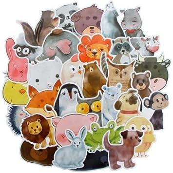 Acuarela Cute Animal Sticker Cartoon JDM Stickers Gift For ...