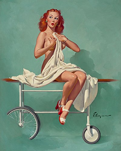 Gil Elvgren Giclee Canvas Print Paintings Poster Reproduction(Pin Up Girls 58) (Halloween History Documentary For Kids)