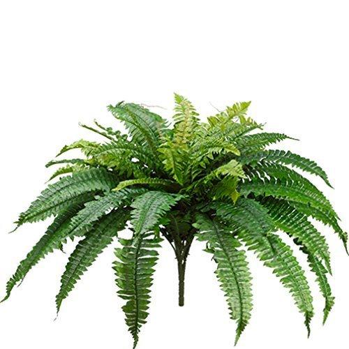 One 60cm Long Silk Artificial Boston Fern Bush 100cm Spread Plant 48 Branches B01AMX93O8