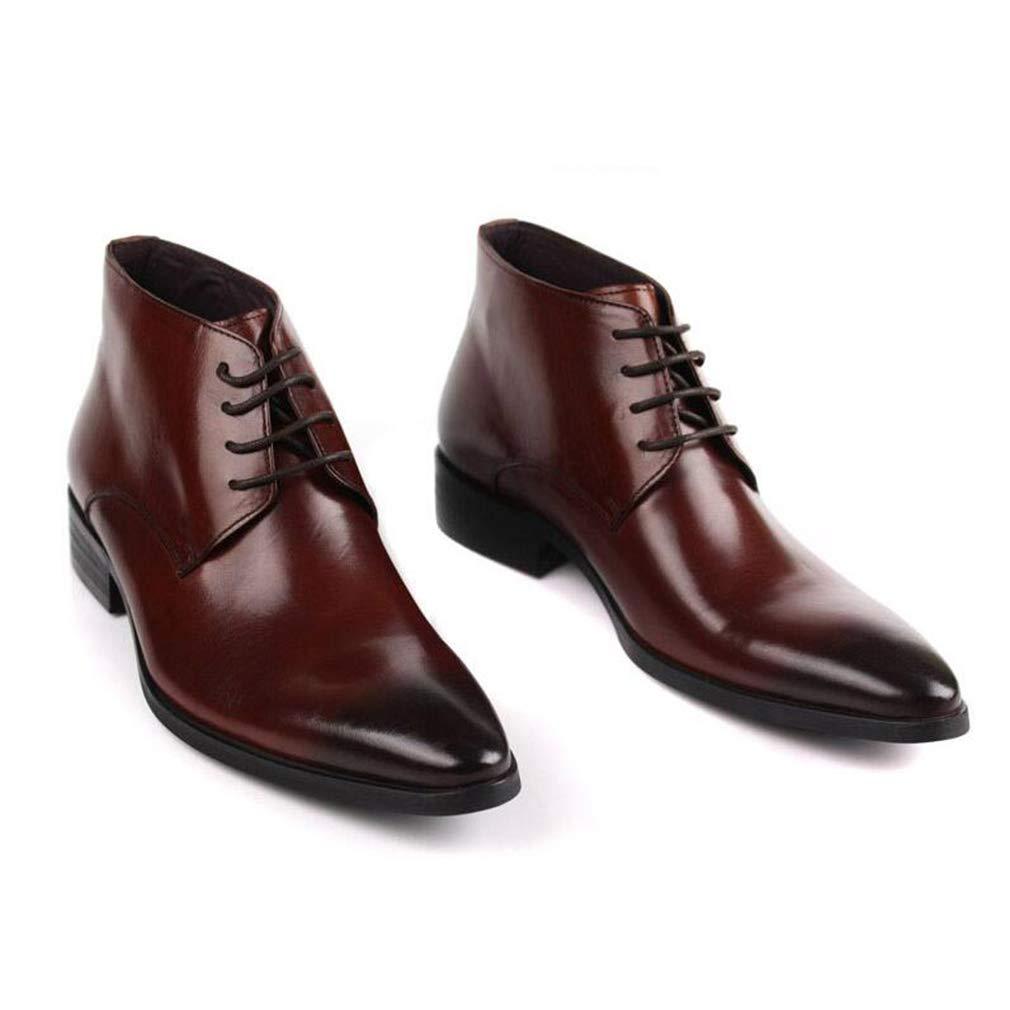 Hy Hy Hy Herren Kleid Schuhe, Herbst Winter wies Persönlichkeit Leder Schuhe, Formale Schuhe, Hochzeit Nachtclub Party & Abend (Farbe   rotdish braun, Größe   43) fc4fd3