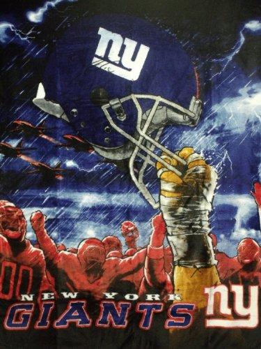 Giant Blanket Throw (The Northwest Company NFL New York Giants 60-Inch-by-80-Inch Plush Rachel Blanket, Sky Helmet Design)