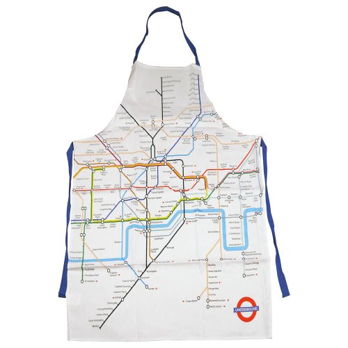 London Underground Tube Map Printed Cloth Apron - London Tube Sign