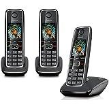 siemens gigaset c430a trio t l phone fixe sans fil noir. Black Bedroom Furniture Sets. Home Design Ideas