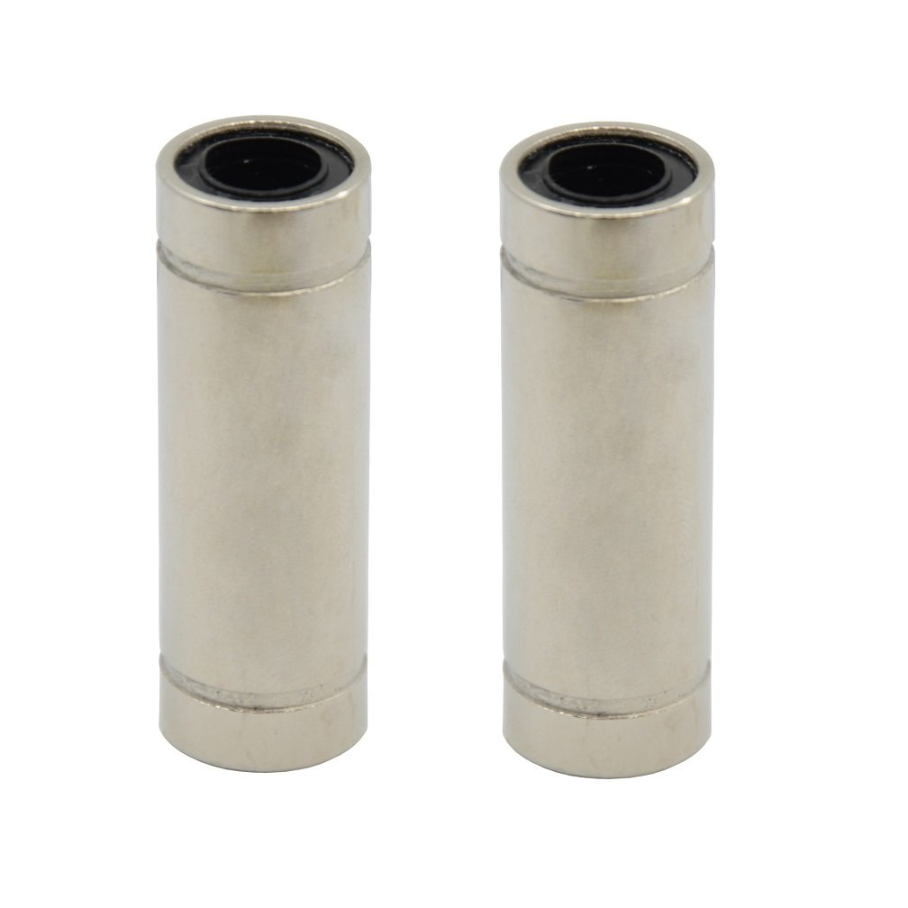 ReliaBot 2PCs LM8LUU Linear Ball Bearing Nickel Plated 8mm x 15mm x 45mm for 8mm Linear Motion Shaft for 3D Printer and CNC Machine