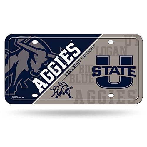 NCAA Utah State Aggies Metal License Plate Tag (Utah State License Plate)