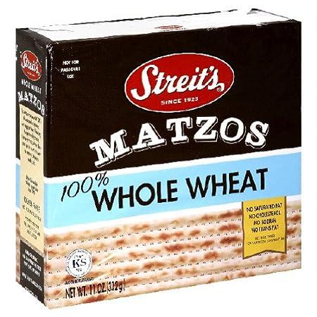 Streit's, Whole Wheat Matzo, 11 oz Streit' s JC Wright Sales Co 070227500065