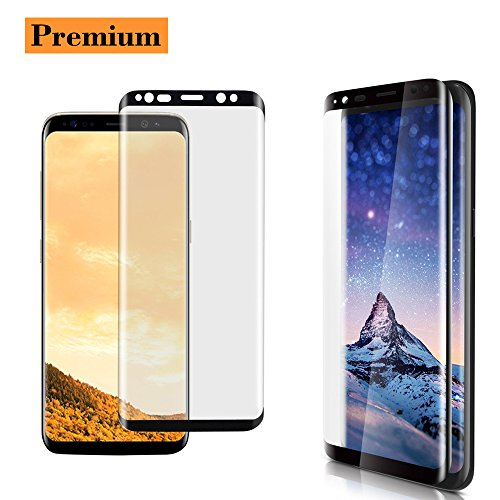 Samsung Galaxy S8 Screen Protector, Cavalrywolf Premium 3D Full Coverage Tempered Glass [Anti-Bubble] [Anti- Scratch] [HD Clear] [High Definition] Screen Protector for Galaxy S8