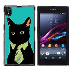 YOYOSHOP [Business Cat] Sony Xperia Z1 L39h Case