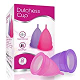 Dutchess Menstrual Authentic Original Cups Set of 2 with Free Bags No - Small (B) - No 1 Economical Feminine Alternative Protection for Cloth Sanitary Napkins for Menstruation