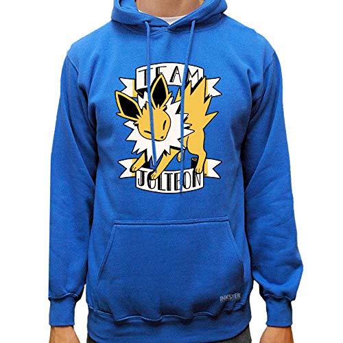 Jolteon Fanart - Hoodie - Pokémon Shirt (X-Large, Blue)