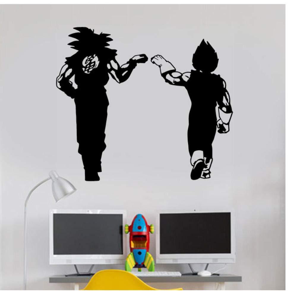 Dragon Ball Z (DBZ)-Goku and Vegeta FIST Bump Anime Surface Sticker Family boy Bedroom Decoration Vinyl Wall Sticker 66x57cm