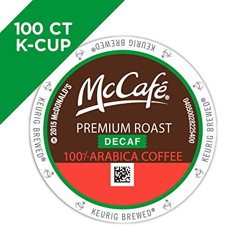 McCafe Premium Roast Decaf Coffee, K-CUP PODS, 100 Count