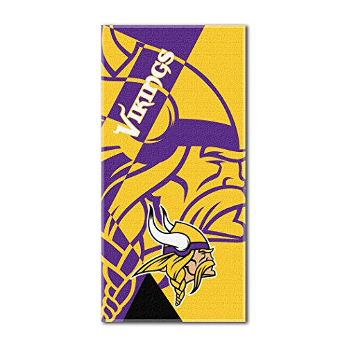 The Northwest Company Officially Licensed NFL Minnesota Vikings Puzzle Beach Towel, 34