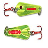 Northland Tackle GSS4-10 O-Shot Spoon Bait, Metallic Chartreuse, 1/4 oz