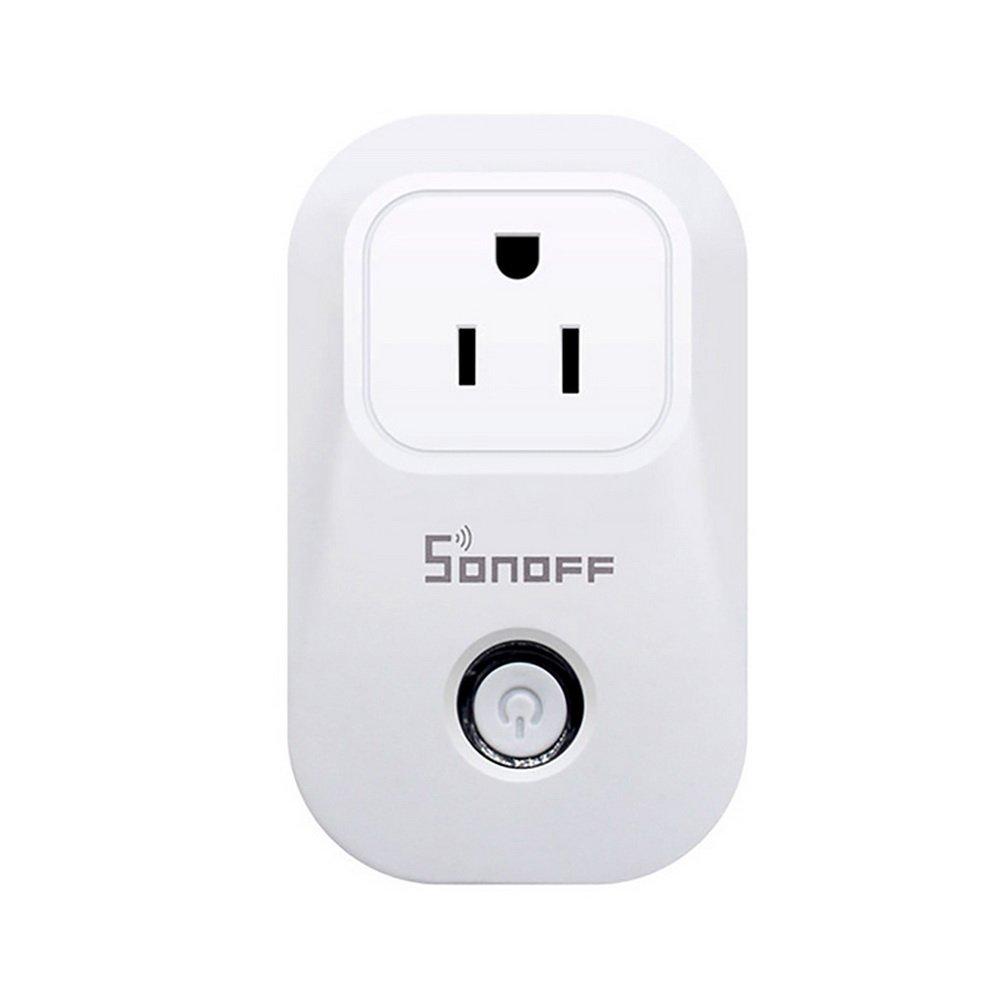 Godagoda Sonoff Wifi Wireless EU US UK Smart Switch WIFI home automation Power Socket by phone work with Alexa