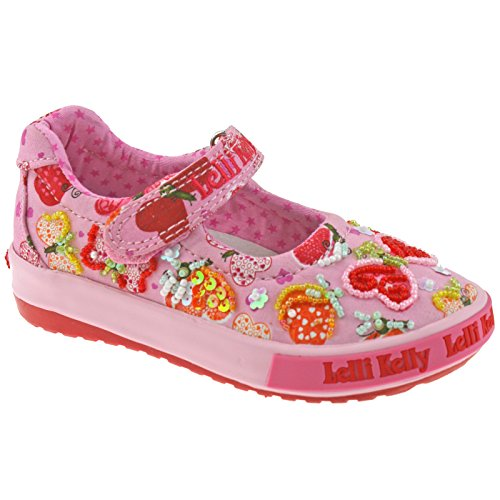 Lelli Kelly LK4010 (BC02) Pink Fantasy Papillon Baby Dolly Shoes-24 (UK 6.5)