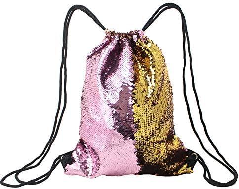 Amazon Com Handmade Gym Drawstring Backpack Sequin Bags