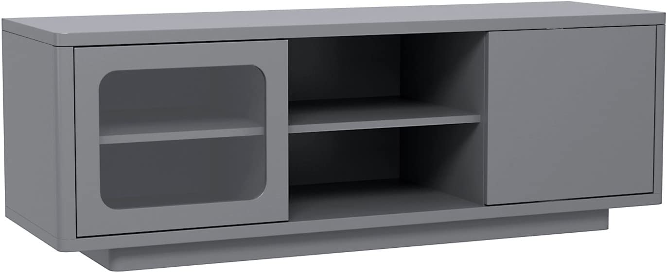 Unidad para televisión con estantes y puertas correderas, en ...