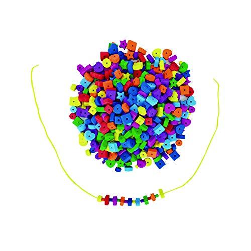 Colorations Jumbo Fun Shapes Foam Beads - 500 Pieces (Item # SOFTBEAD) ()