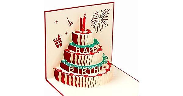 Amazon.com: Tarjeta de cumpleaños 3D – Tarjeta de regalo ...