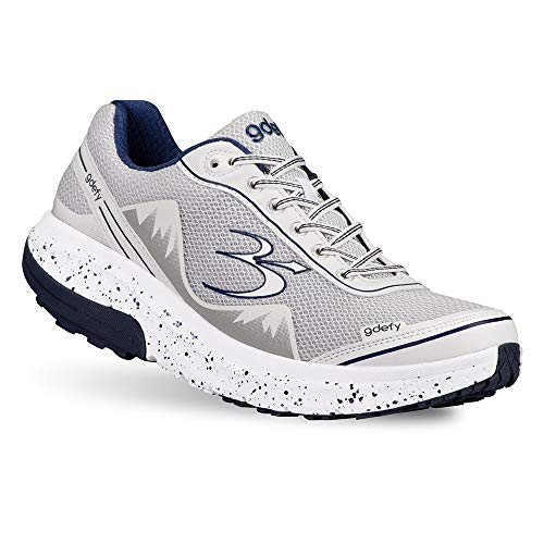 (Gravity Defyer Pain Relief Men's G-Defy Mighty Walk Athletic Shoes 10.5 W US- Shoes for Plantar Fasciitis - White, Blue)