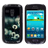 TopCaseStore / Snap On Hard Back Shell Rubber Case Protection Skin Cover - Plant Nature Forrest Flower 20 - Samsung Galaxy S3 MINI NOT REGULAR! I8190 I8190N