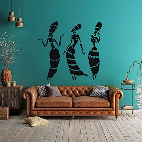 African Women Vinyl Wall Decals - Africa Culture Home Decor for Living Room, Bedroom, or Museum