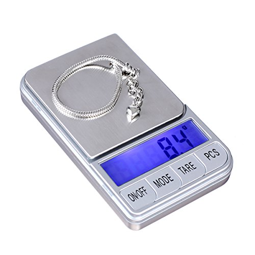 TBBSC Weigh Scales,High Precision Digital Pocket Scale,Jewelry Scale Gram (Silver-1000g/0.1g)