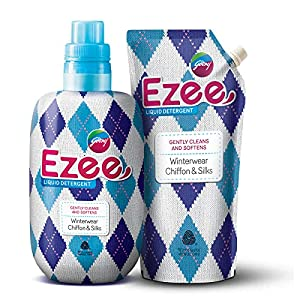 Godrej Ezee Liquid Detergent – Winterwear, No Soda Formula, 2kgs (1 bottle & 1 refill)