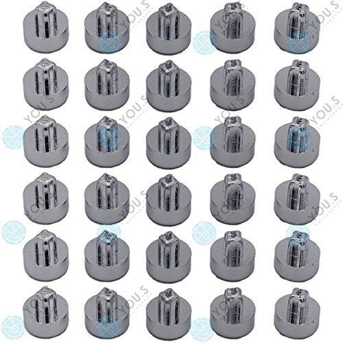 30 x You. S Bouchon dé coratif dé coratif Vis Rivets Chrome Jantes aluminium jantes Tuning IC02 You.S