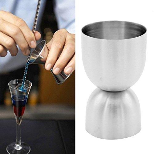 ☀ Dergo ☀ Stainless Spirit Cocktails Measure Cup Jigger Alcohol Bartending BarampWine Tools