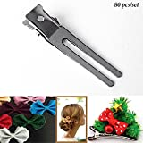 metal Adorox (1.8 Inches, 80pc) Double Prong Metal Alligator Hair clips