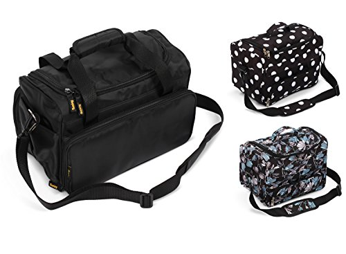 Kenley Professional Hairdressing Hair Salon Styling Tools Carry Case Bag Organizer - Medium-Sized - Prestige Black