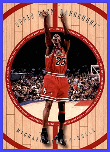 1998 Upper Deck Hardcourt #NNO Michael Jordan Jumbo CHICAGO BULLS measures 5x7 inches
