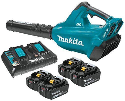 Makita XBU02PT1 18V X2 (36V) LXT Lithium-Ion Brushless Cordless Blower Kit with 4 Batteries - X New Battery 2
