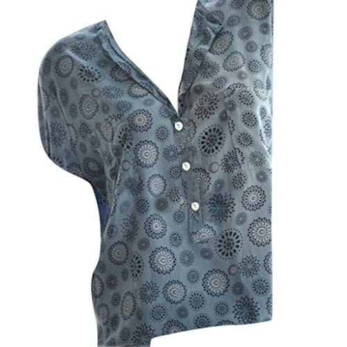 [해외]여성을 위한 clearence 2019 림 씨 여성 블라우스 캐주얼 프린트 V 넥 반 팔 티셔츠 플러스 사이즈 티셔츠 탑 스 / Clearence for Women 2019 Limsea Womens Blouse Casual Print V-Neck Short Sleeve T-Shirt Plus Size Tees Tops