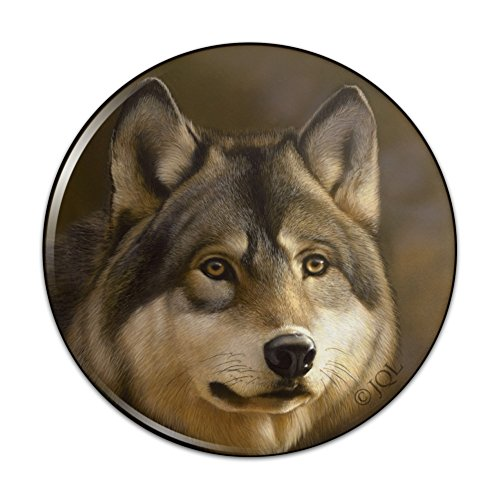 Timberwolf Timber Wolf Wolves Compact Pocket Purse Hand Cosmetic Makeup Mirror - - Bathroom Mirrors Timber