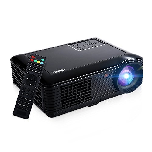 HD 1080P Home Projector, GBTIGER 4000 Lumens 1280x800P Full HD Multimedia LCD Projector Home Theater for Home Cinema/Video Games/Movie Night Up to 150 inch Screen (Black)