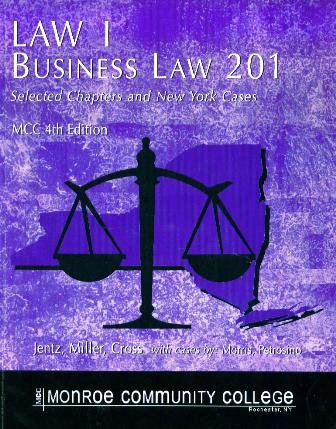 Download Law 1 Business Law 201 (Selected Chapters and New York Cases) PDF