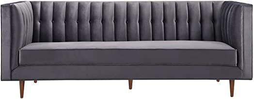 TOV Furniture The Sebastian Collection Modern Contemporary Tufted Velvet Living Room Sofa