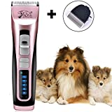 Pet Clippers, 3 Speed Low Noise Rechargeable Cordless Dog Trimmers Professional Animal Grooming Shavers for Thick Hair Dogs, Cats, Rabbits and Horses