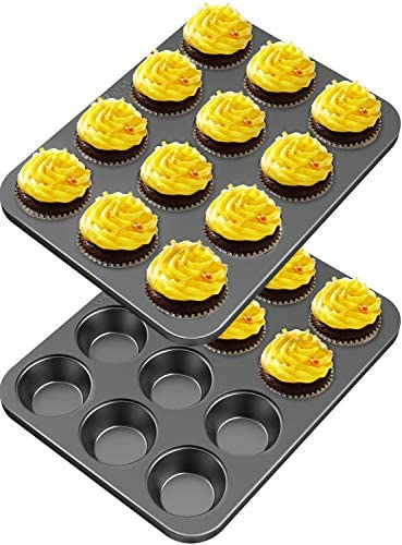 12 Grid Cake Mold Pan Muffin Cupcake Kitchen Bakeware Oven Tray Mould Bakery