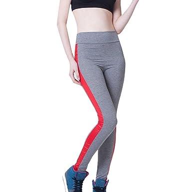 25c57d47472ae Angelof Legging Sport Bande Femme Pantalon Yoga Minceur Ventre Plat Ado  Fille Pants Taille Haute Gris  Amazon.fr  Vêtements et accessoires
